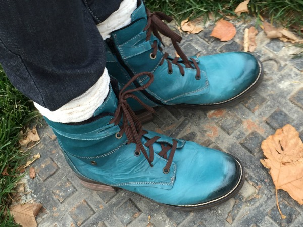ff28449460e36d Dromedaris Kara Boot in teal are high quality leather boots made in  Portugal.