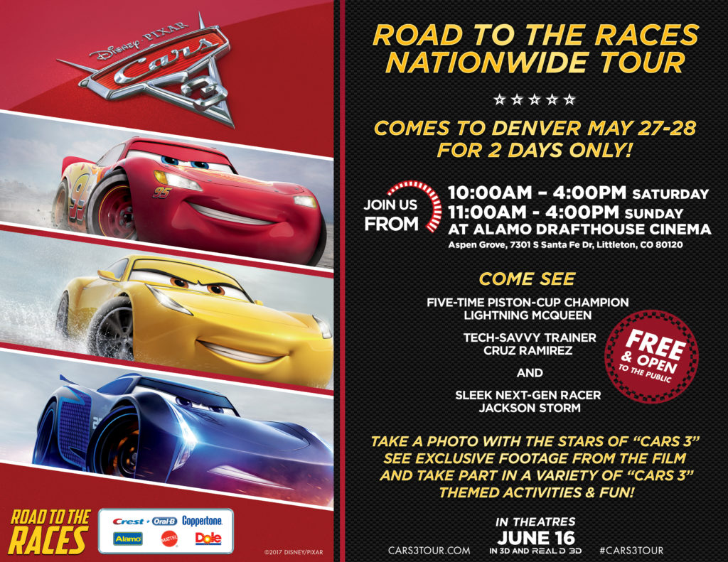 Cars Full Movie Free >> Cars 3 Road To The Races Tour Free Denver Dates Location